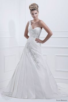ellis bridals 2013 one shoulder wedding dress 11356