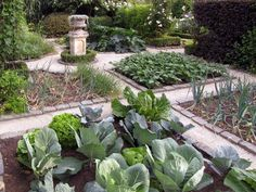 This classic potager style always looks great. It's like a vegetable quilt!