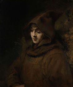 Rembrandts zoon Titus in monniksdracht, Rembrandt Harmensz. van Rijn, 1660. #Rijksmuseum