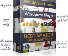 Amazon eStore Affiliates Plugin come with a Amazon WordPress theme giving you the  'Amazon Package'   helping you build a Store featuring Amazon affiliate products..