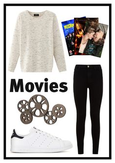 """""""#484 movie night"""" by xjet1998x ❤ liked on Polyvore featuring Nolita, 7 For All Mankind, adidas and Dot & Bo"""