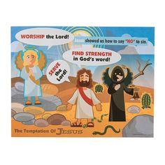This is a great Sunday School activity or VBS craft for kids! Teach students how Jesus overcame temptation by finding strength in the Lord and His fai. Vbs Crafts, Bible Crafts, Crafts For Kids, Strength In The Lord, New Testament Bible, Bible News, Sunday School Activities, Worship The Lord, Church Nursery