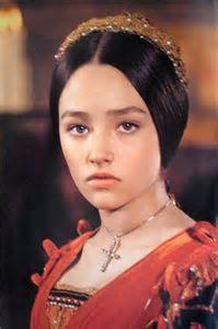 "Olivia Hussey in Franco Zefferelli's ""Romeo & Juliet."""