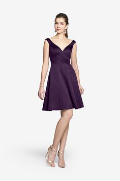Swing Dress in Luster Satin, BRISTOL DRESS. Free Shipping. Free Size Exchange. #Bridesmaid Purchase Code: 6135469149