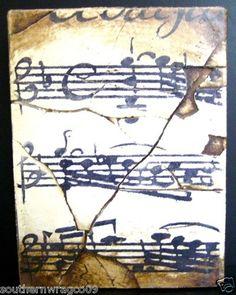 Sid Dickens Memory Block - PQ45 -MUSICAL NOTATION- Retired - 1996
