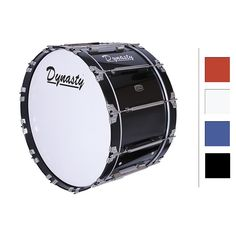 "Dynasty Marching Bass Drum 26"" White 26x14"""