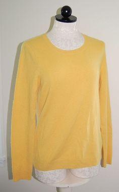 Talbots Woman's Cashmere Gold Crewneck Knit Sweater Top M #Talbots #Crewneck