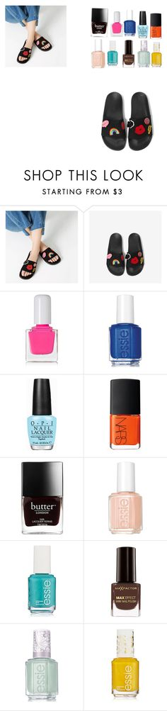 """""""Pedicure"""" by mahamejaz545 ❤ liked on Polyvore featuring beauty, tenoverten, Essie, OPI, NARS Cosmetics and Max Factor"""