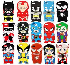 3D Cartoon Super Hero Soft Silicone Cover Case For Apple iPhone 4 4G 4S 5 5S 5C[Spiderman Villian,iPhone 5 5G 5S]