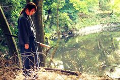 Rurouni Kenshin: The Legend Ends BTS. Takeru Sato as Kenshin Himura.