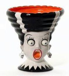 Dept 56 google eye Bride of Frankenstein Bowl