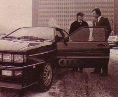 Audi Quattro, Niki Lauda takes delivery of his Quattro