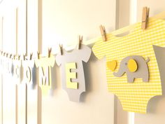 **Cute and adorable banner for baby showers!** This banner is a perfect touch for both gender neutral baby showers! Baby Shower Pin, Baby Shower Favors, Baby Shower Themes, Shower Ideas, Baby Sprinkle Favors, Sprinkle Shower, Gender Neutral Baby Shower, Baby Gender, Baby Letters