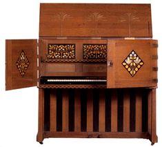 Arts & Crafts Upright Piano designed by Mackay Hugh Baillie-Scott,  1897.