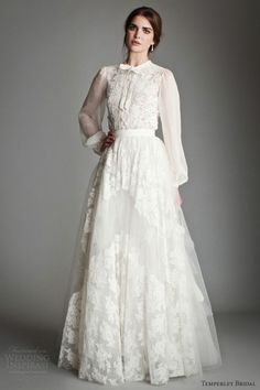 Shirtwaist Wedding Dresses Are Trending Now