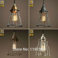 Cheap pendant light china, Buy Quality pendant mini lights directly from China light Suppliers:                       More Recommend Items     Retro industrial Edison bulb light chandelier creative header with switch
