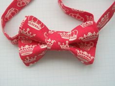 Red Crown Fabric Bowtie £10.00