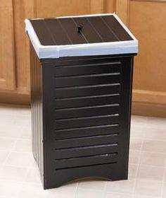 #614632016 Wooden Kitchen Trash Bins - Black by sensationaltreasures