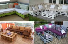 FabArtDIY Pallet Home Decorating and Furniture Projects and Tutorials - DIY Pallet Sofa Lounge Pallet Lounge, Diy Pallet Sofa, Diy Pallet Furniture, Furniture Projects, Home Furniture, Outdoor Furniture Sets, Pallet Patio, Lounge Sofa, Lounge Furniture