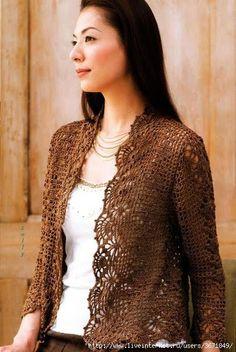 crochet bra and summer top for dresses, crochet patterns Crochet Bolero, Crochet Bra, Crochet Jacket, Crochet Woman, Crochet Cardigan, Filet Crochet, Crochet Clothes, Crochet Round, Moda Crochet