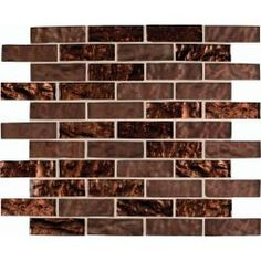 M. S. International Inc. Copper Leaf 12 in. x 12 in. Glass Mesh-Mounted Mosaic Wall Tile
