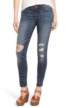 3ede956e56b4 ONLY Damen Skinny Jeanshose onlCORAL SL SK DESTROY CRE332 NOOS, Blau ...