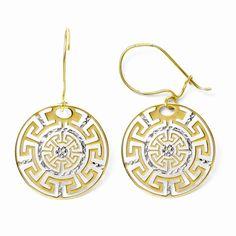 Leslies 14k Small D//C Basketweave Post Earrings Length 8 Width 8