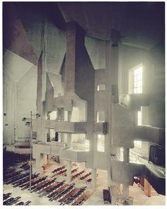 Pilgrimage church, Neviges, Germany, Gottfried Böhm, 1963-72