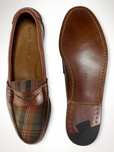 The Best Men's Shoes And Footwear : Ralph Lauren Plaid Penny Loafers - Plaid And Leather, Leather Loafers, Loafers Men, Men Dress, Dress Shoes, Well Dressed Men, Penny Loafers, Men S Shoes, Swagg