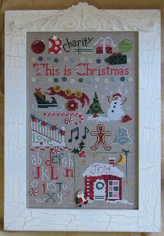 Christmas cross stitch pattern This is Chrismtas by Raise the Roof Designs