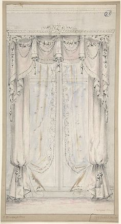 Design for Curtains. Charles Hindley and Sons, British, London