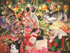Christmas Hide and Seek (300 Large Piece Puzzle by SunsOut)