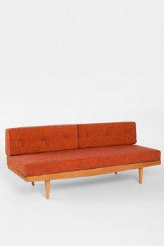 Retro orange sofa - very cool look in Orange!  #colour #sofa #orange