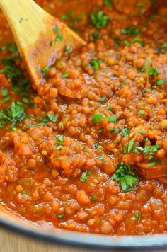 Slimming Eats - Sausage and Lentil Casserole - gluten free, dairy free, Slimming World and Weight Watchers friendly....Slow Cooker recipes