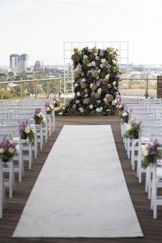 Todo preparado para una boda en la azotea!