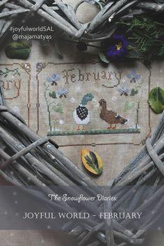 The Snowflower Diaries: JOYFUL WORLD - FEBRUARY PATTERN - free cross stitch calendar SAL