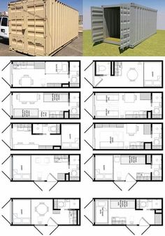 Container House - Cargo Container Home Plans In 20 Foot Shipping Container Floor Plan Brainstorm Tiny House Living - Who Else Wants Simple Step-By-Step Plans To Design And Build A Container Home From Scratch? Cargo Container Homes, Shipping Container House Plans, Building A Container Home, Shipping Container Design, Storage Container Homes, Storage Containers, Container Home Plans, Shipping Container Interior, Tiny Container House