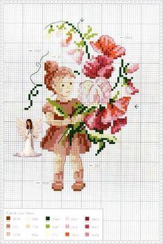 Çiçekler ve çocuk