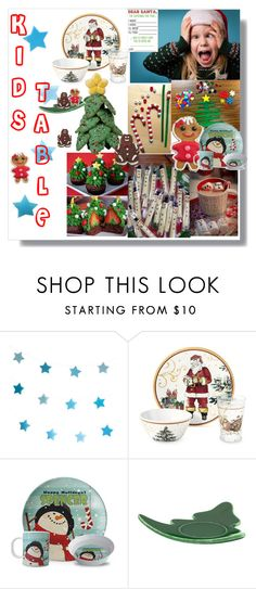 """""""Kids Christmas table"""" by joyfulmum ❤ liked on Polyvore featuring interior, interiors, interior design, home, home decor, interior decorating, My Little Day and Williams-Sonoma"""