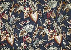 Hawaiian leafy vintage nubby upholstery style cotton barkcloth fabric. Other colors at BarkclothHawaii.com 10% off when you add Pin10 to the comment box at checkout!