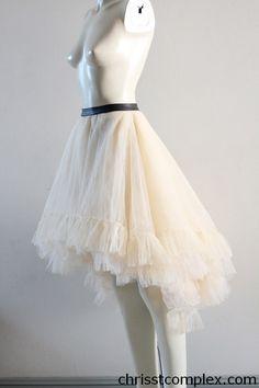 Petticoat Tutu Gothic Wedding Tulle Ballet Skirt Bridal Wedding Black Swan Lady Gaga Steampunk Bridal - Chrisst - EXPRESS SHIPPING UPGRADE. $289.00, via Etsy.