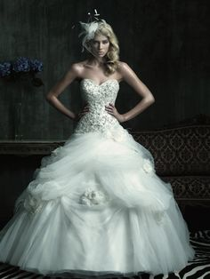 Allure Bridals Couture Fall 2012 Wedding Dress with Swarovski Crystals and Sweetheart Neckline