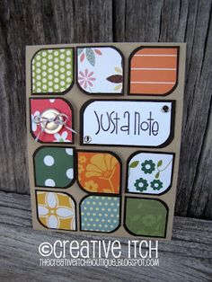 Cute way to use up scraps that we just have to hang onto!!!