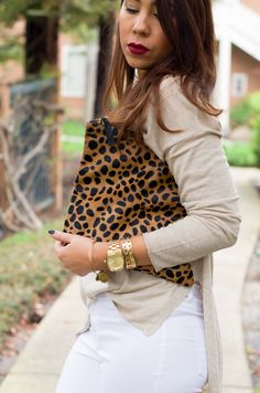 Leopard Clutch   Lovely Gold Things