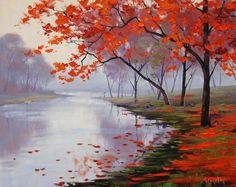 Lake side colors - Beautiful Landscape Paintings by Graham Gercken  <3 <3