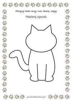 KOCIE KARTY PRACY – zestaw 1 – Przedszkolankowo Teddy Bear Day, Diy And Crafts, Arts And Crafts, Cat Activity, Age 3, Videos Funny, Cartoon Art, Kindergarten, Homeschool
