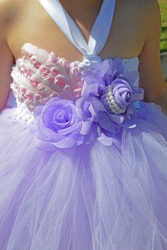 Lavender Purple Flower Girl Tutu Dress with by PoshPixieTutu, $69.99