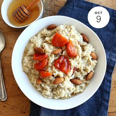 Apricot Honey Oatmeal   INGREDIENTS: • 3 1⁄2 Cups Water  • 1⁄3 Cup chopped dried apricots  • 1⁄4 Cup Honey  • 1⁄2 Teaspoon ground cinnamon  • 2 Cups Quaker® Oats (quick or old fashioned, uncooked) Buy Now  PREPARATION: In a 3-quart saucepan, bring water,...