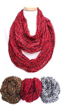 HEAR MY ROAR leopard infinity scarf in 3 colors