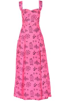 Pink printed silk slit maxi BY MASABA Shop now at perniaspopupshop.com #perniaspopupshop #clothes #womensfashion #love #indiandesigner  #MASABA #happyshopping #sexy #chic #fabulous #PerniasPopUpShop #quirky #fun